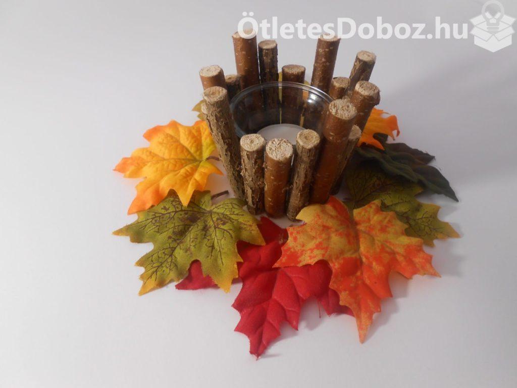 Ötletes őszi mécsestartó ágakból