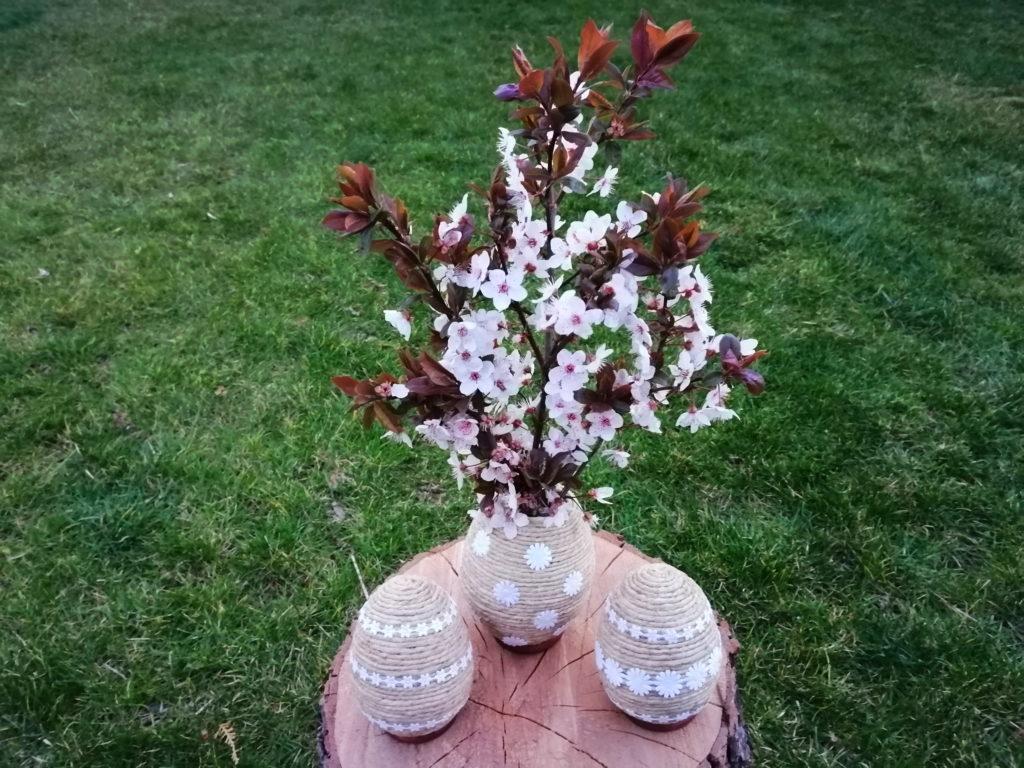 Hungarocell tojásból húsvéti váza