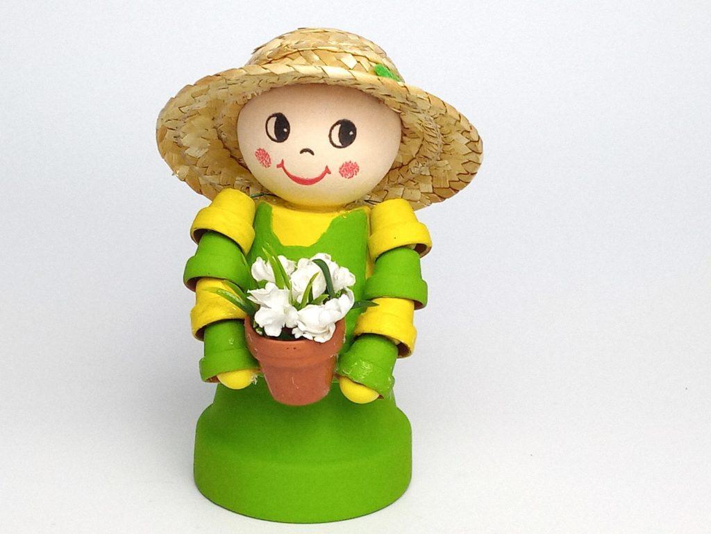 Kertész cserép figura