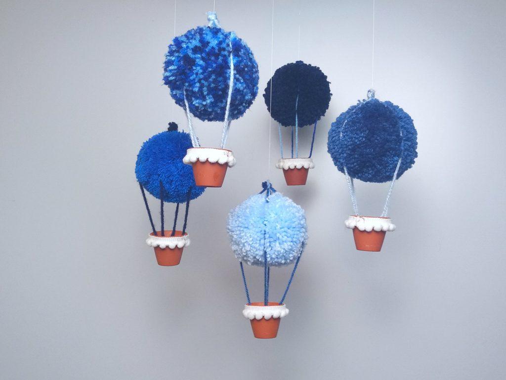 Pompon hőlégballonok