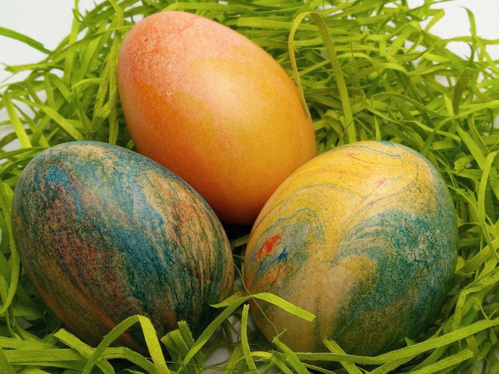 Márványozott Húsvéti Tojások