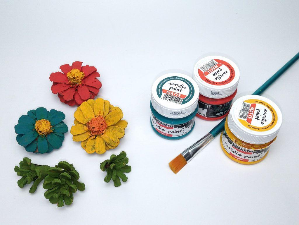Őszi Toboz Virág Festés