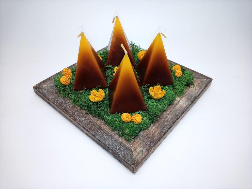 Piramis(Gúla) Gyertyás Koszorú