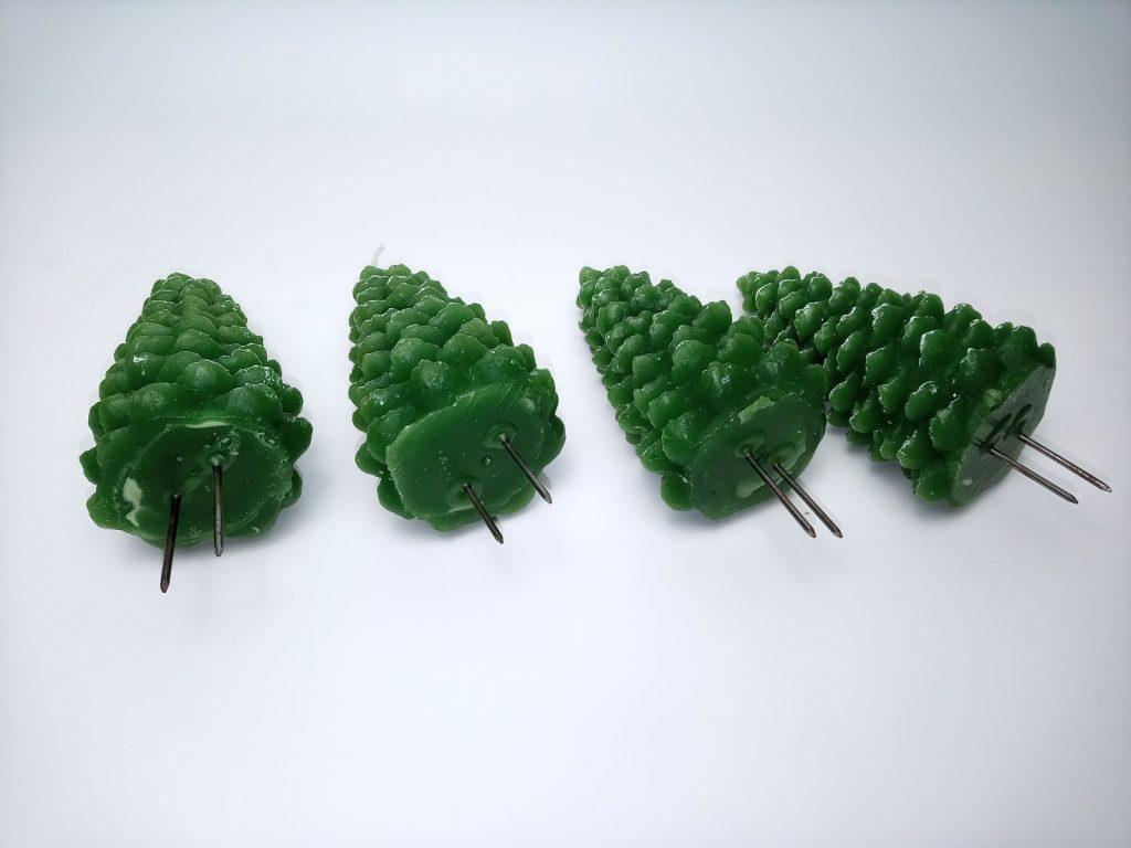 Téli Erdő Koszorú Fenyőfa Gyertyák