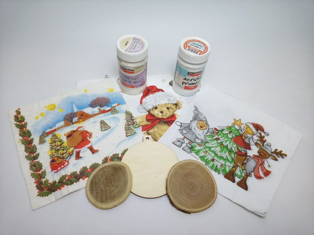 Karácsonyfadísz Faszeletből Hozzávalók