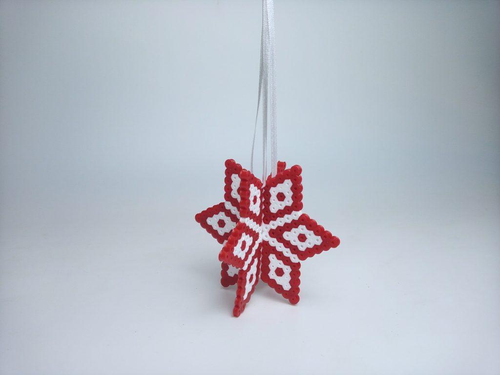 3D-s Karácsonyfadísz Vasalhatógyöngyből