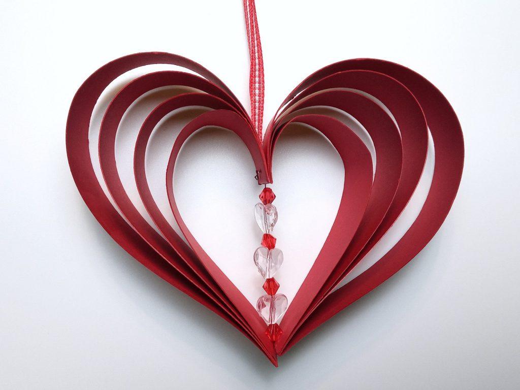 Valentin Napi Képeslap Ablakdísz